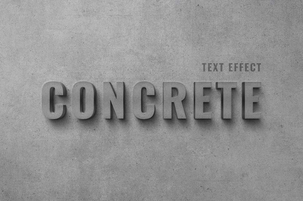 Concrete Wall Text Effect