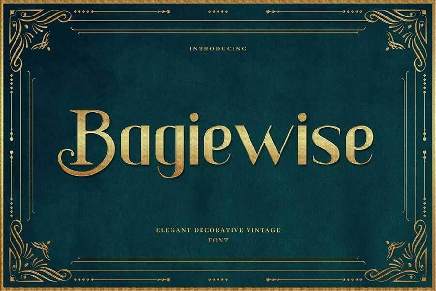 Bagiewise — Luxury Art Deco Typeface