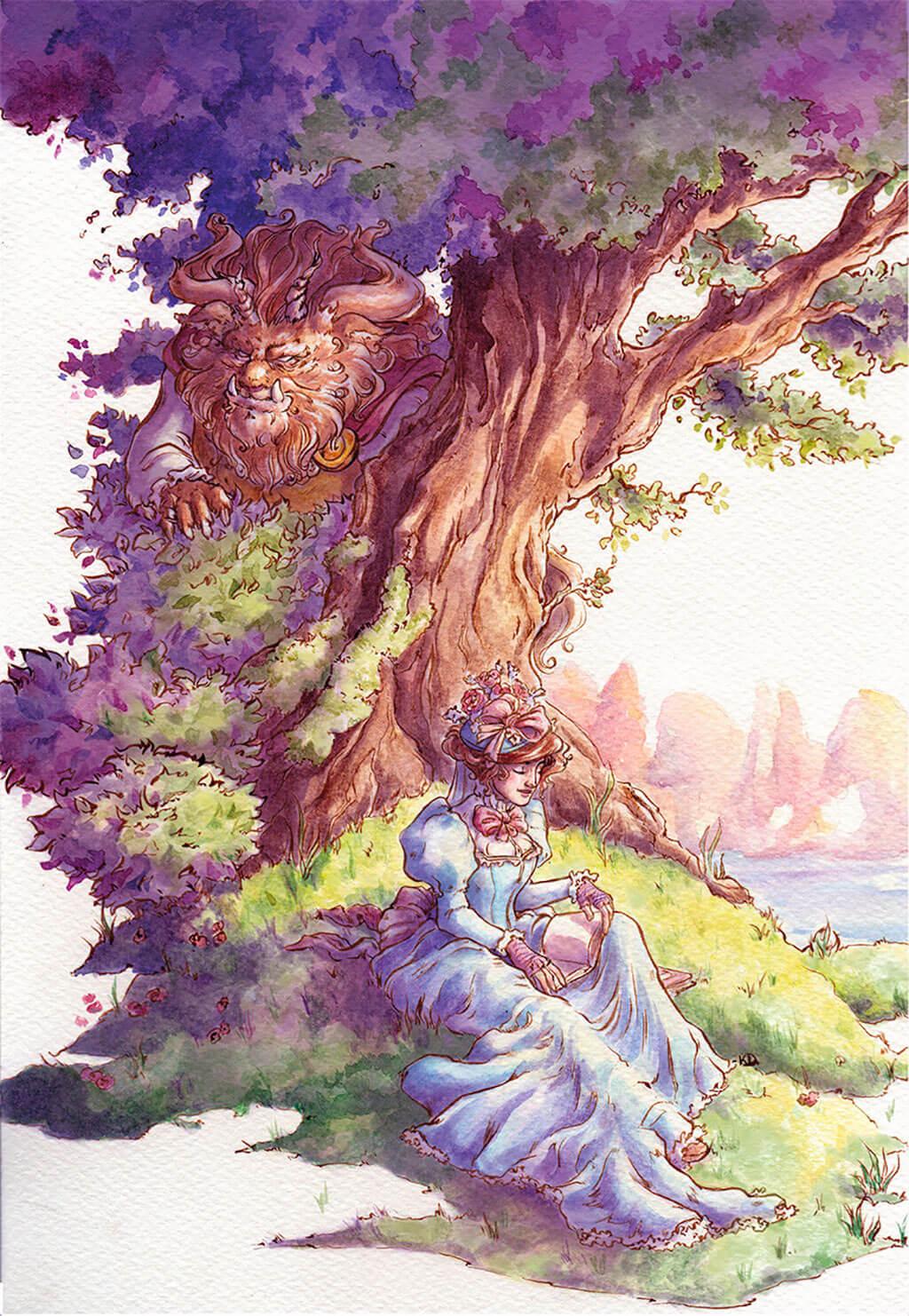 Beauty and the Beast Fan Art by Kathleen Deleon