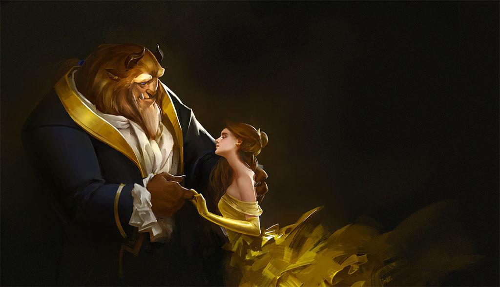 Beauty and the Beast Fan Art by Rui Zhang