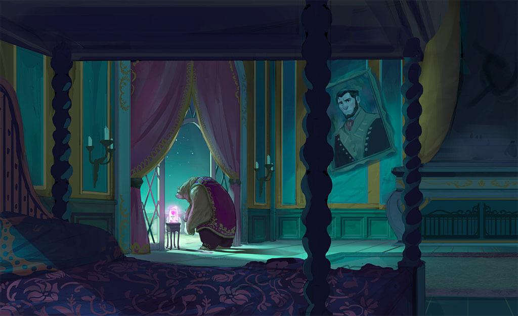 Beauty and the Beast Fan Art by Wesley Lin