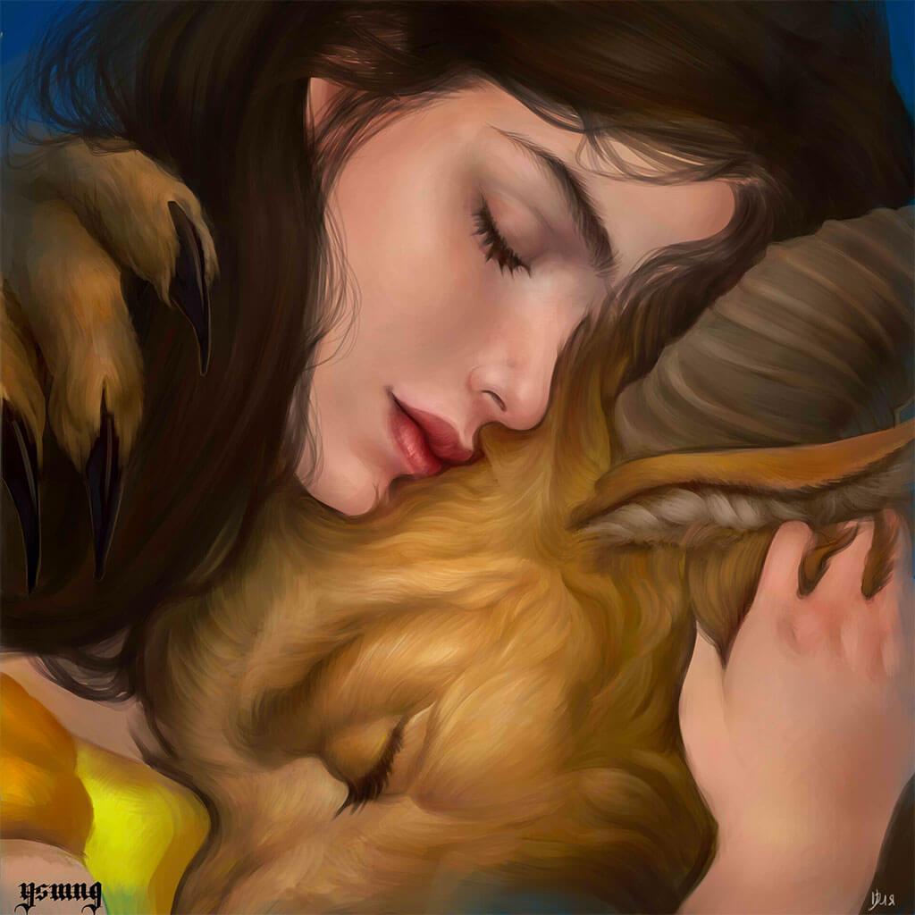 Beauty and the Beast Fan Art by Yuliya Bogdantseva