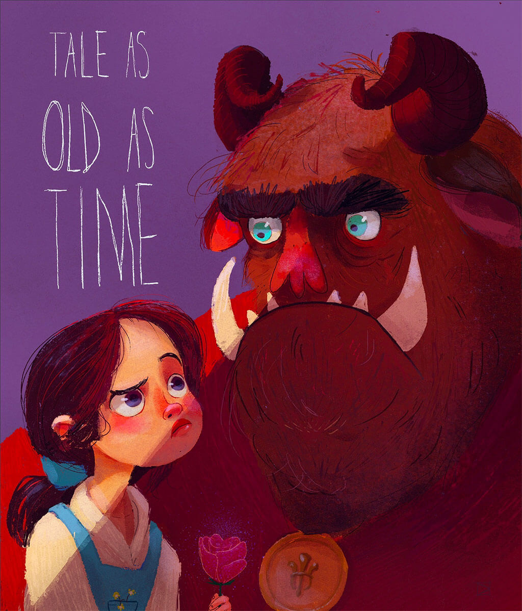 Beauty and the Beast Fan Art by beatrice blue
