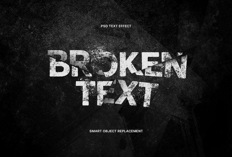 Broken Text Photoshop Effect