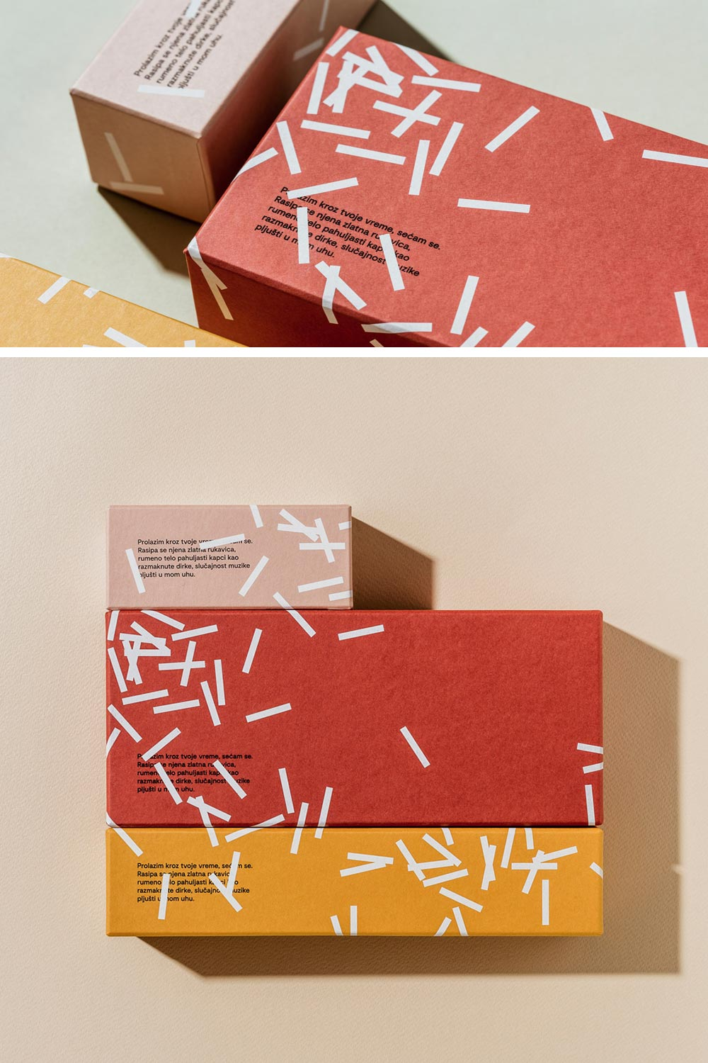 Fini confetti package design