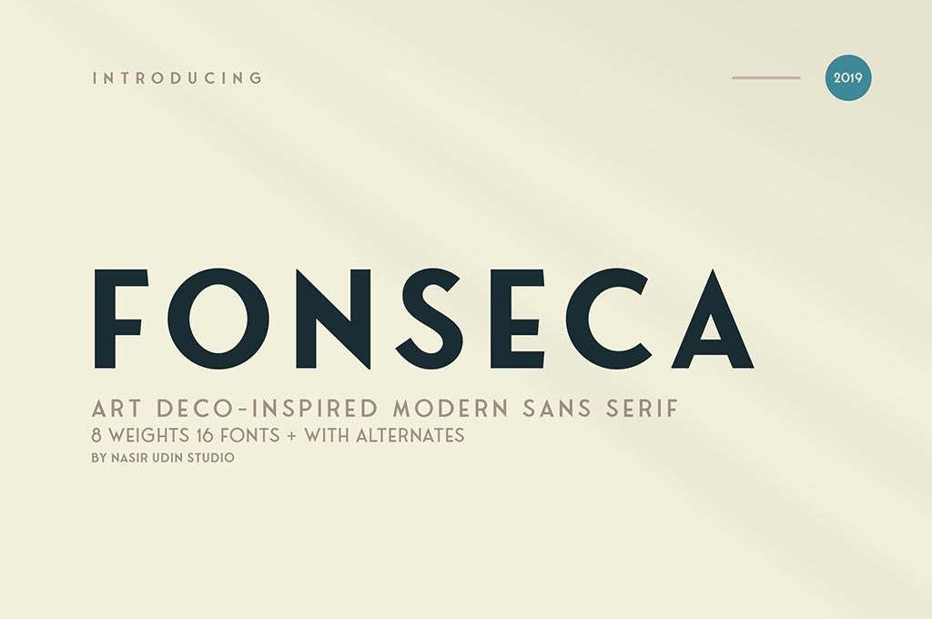 Fonseca | Art Deco Font Family Pack