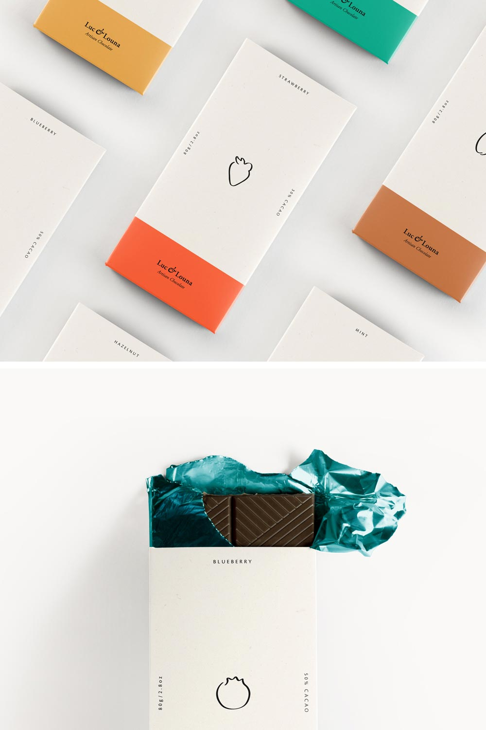 Luc & Louna branding and packaging