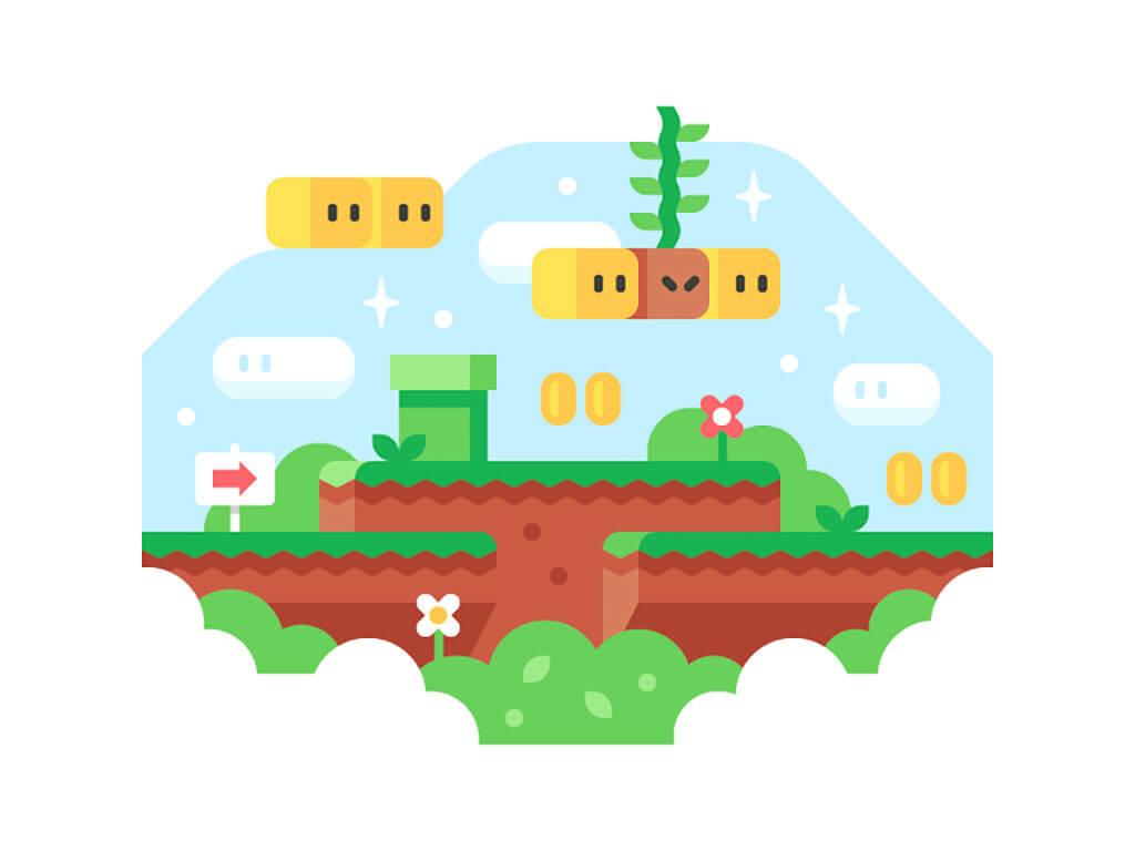 Mario Fan Art by Alex Pasquarella