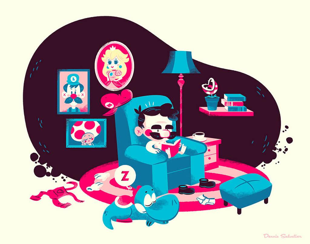 Mario Fan Art by Dennis Salvatier