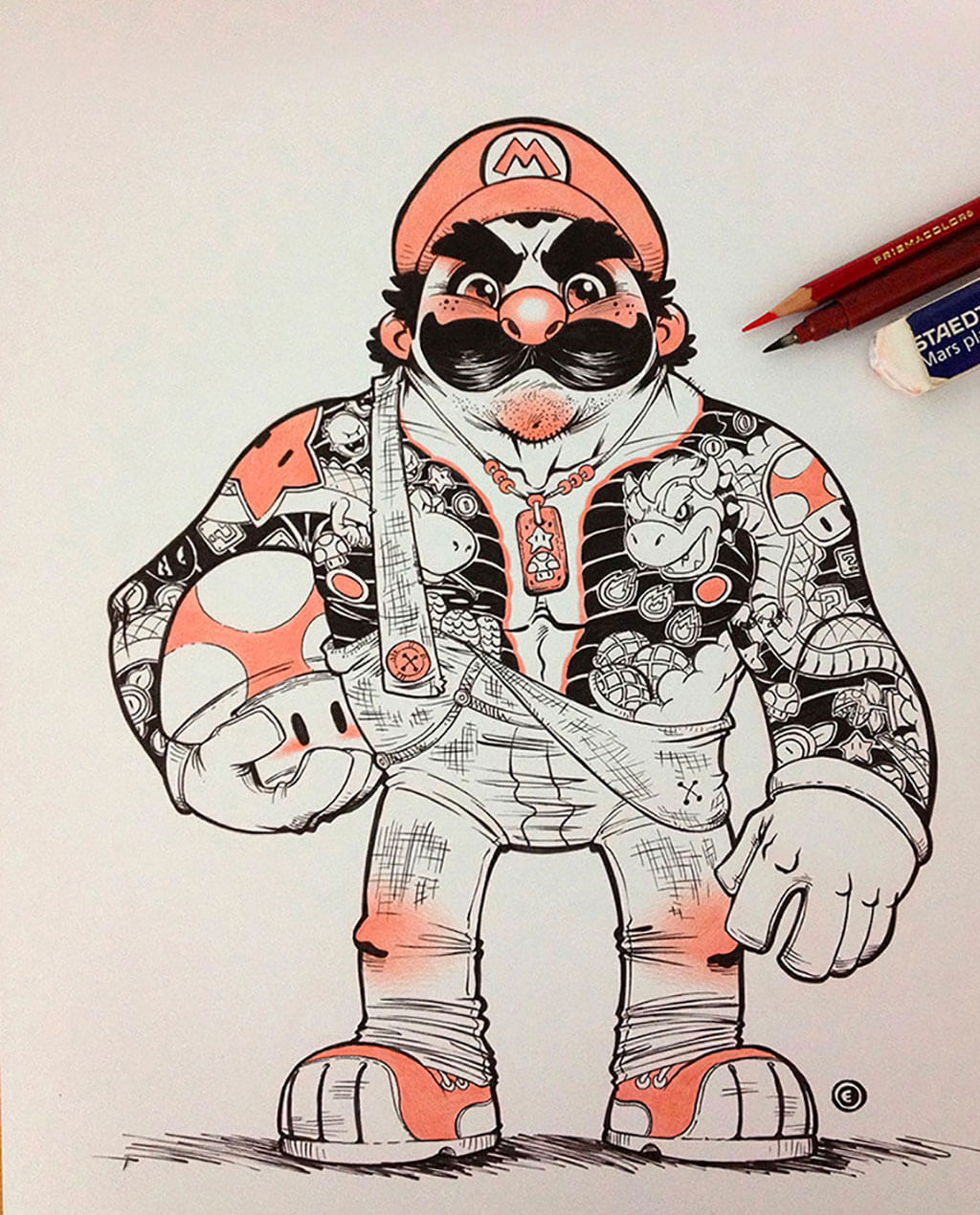 Mario Fan Art by Eduardo Vieira