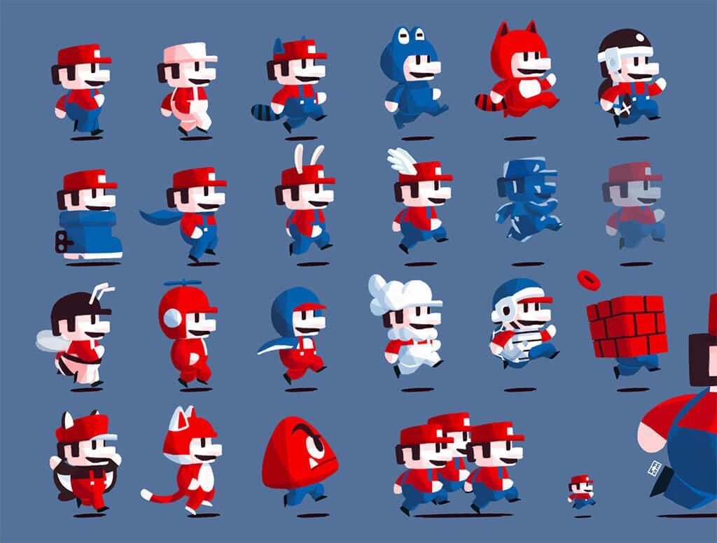 Mario Fan Art by Felo Lira
