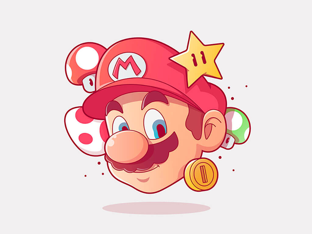 Mario Fan Art by Francis