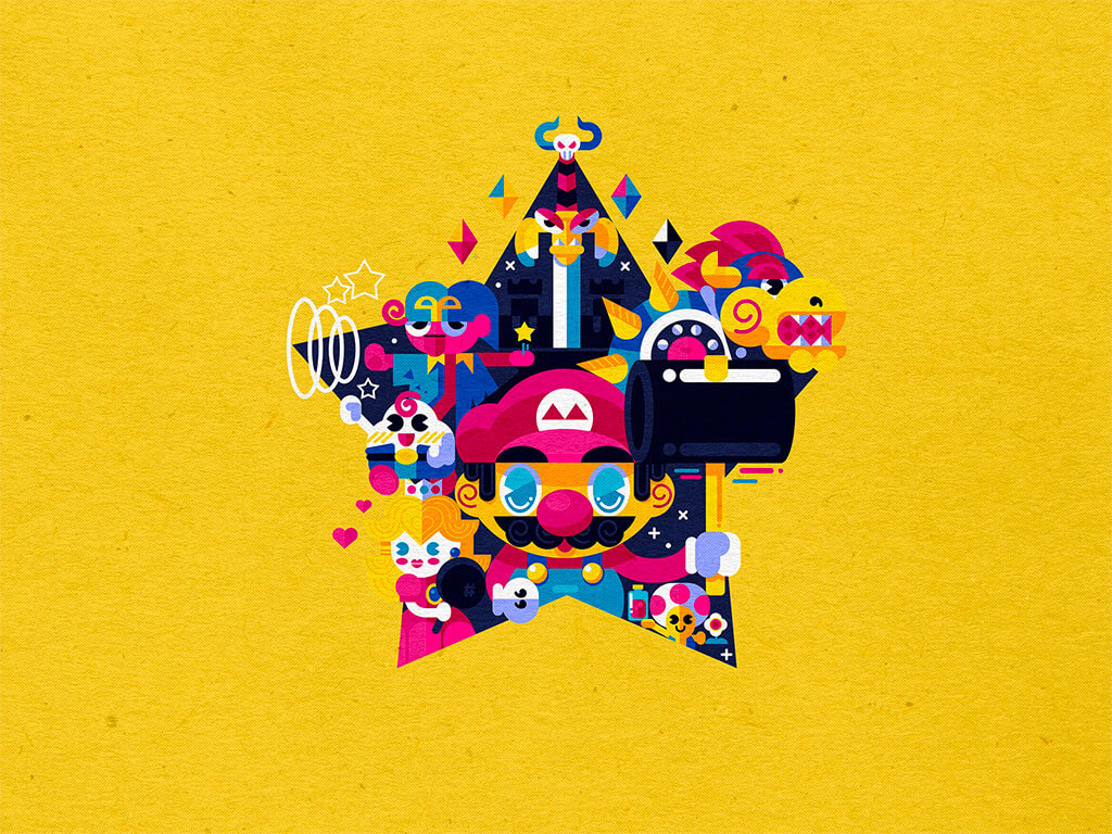 Mario Fan Art by Inkbyte Studios