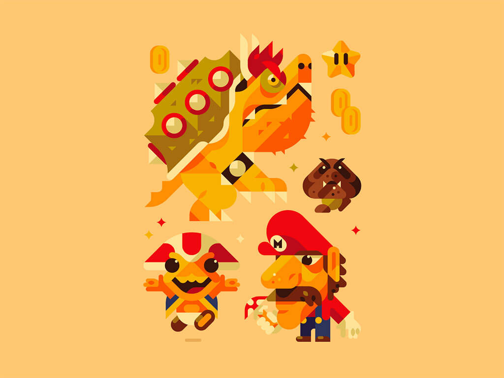 Mario Fan Art by JAMES GRAVES