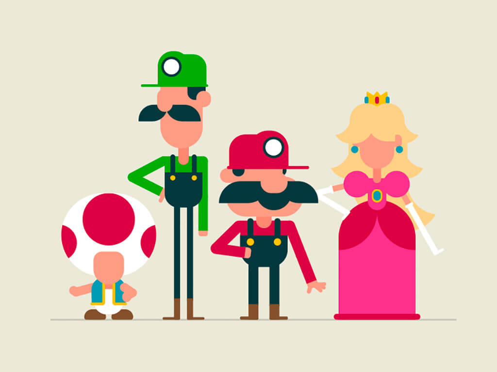 Mario Fan Art by Jerry Liu Studio