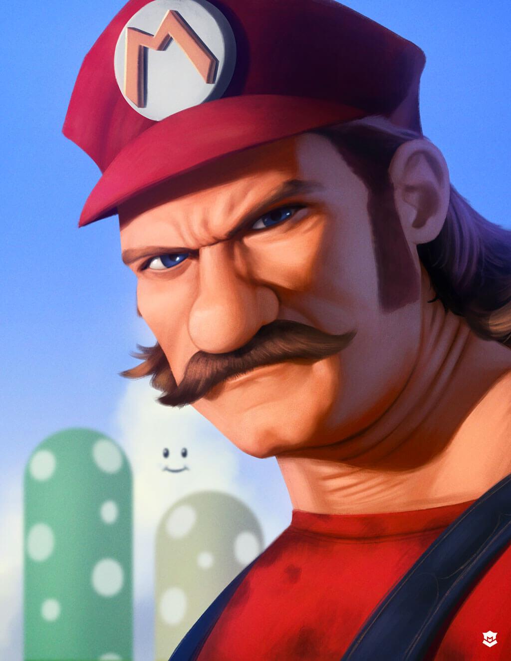 Mario Fan Art by Marcos Lopez
