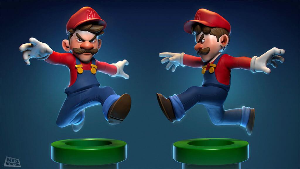 Mario Fan Art by Mark Henriksen