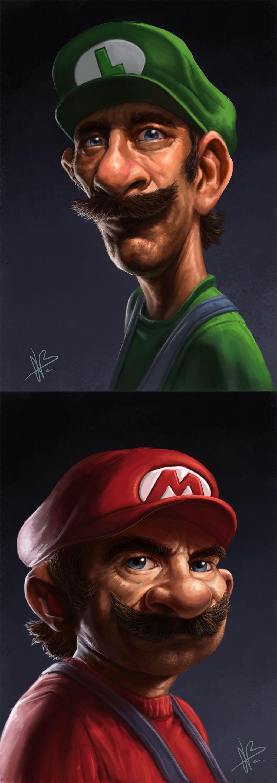 Mario Fan Art by Nuño Benito