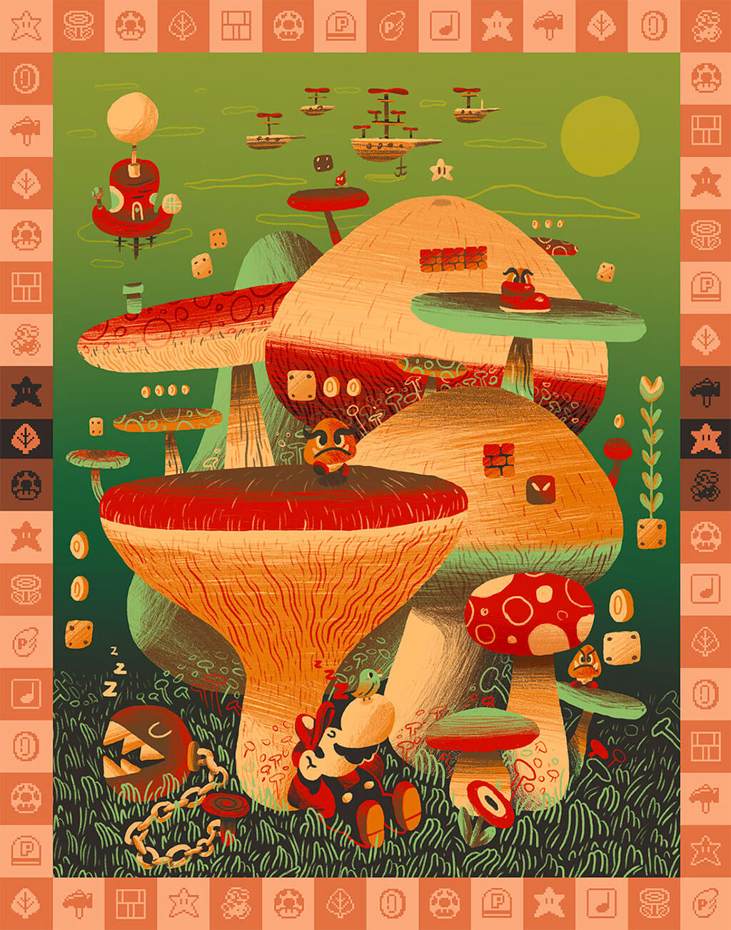 Mario Fan Art by Scott Balmer