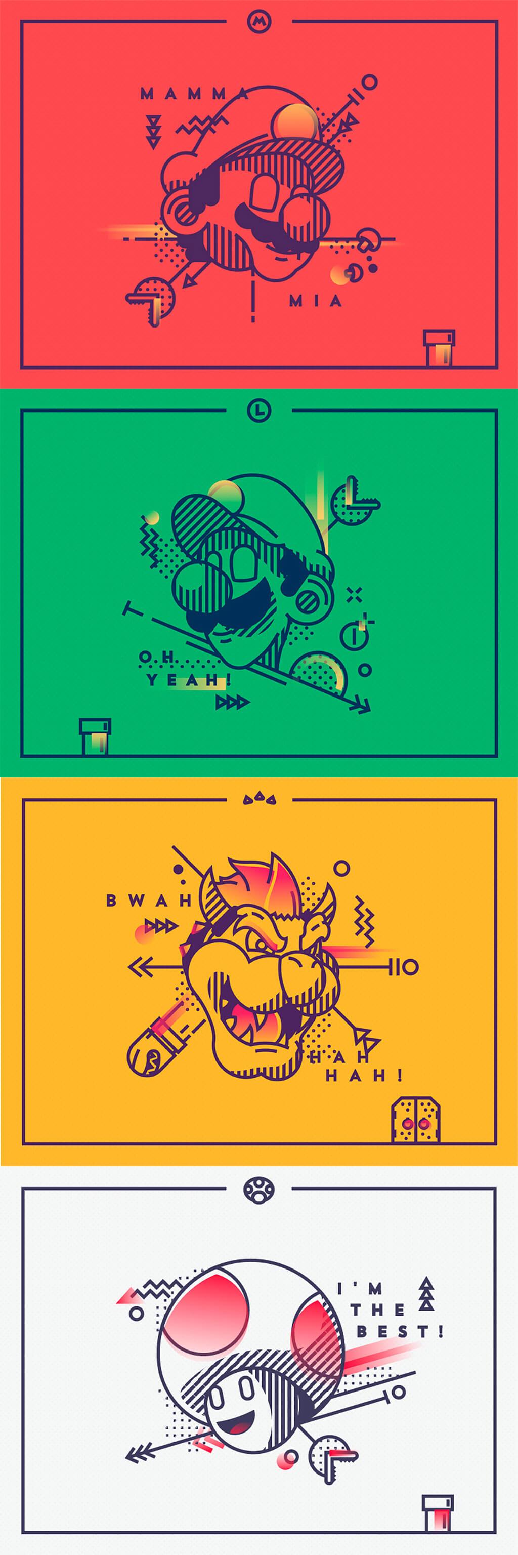 Mario Fan Art by Tsuriel