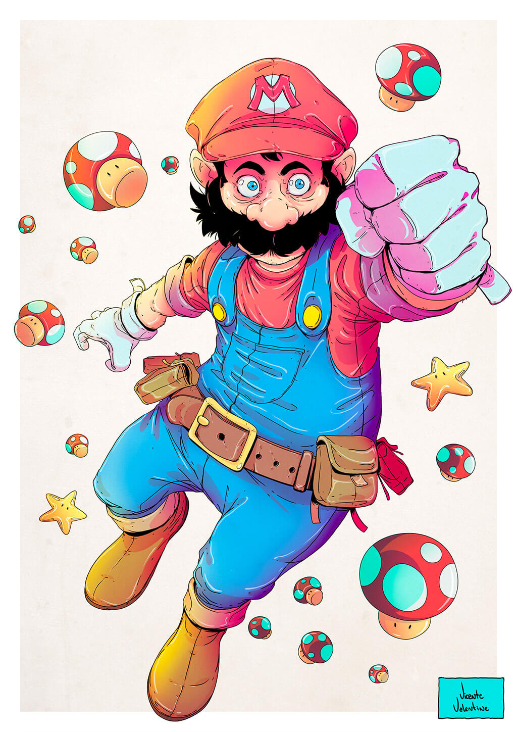 Mario Fan Art by Vicente Valentine