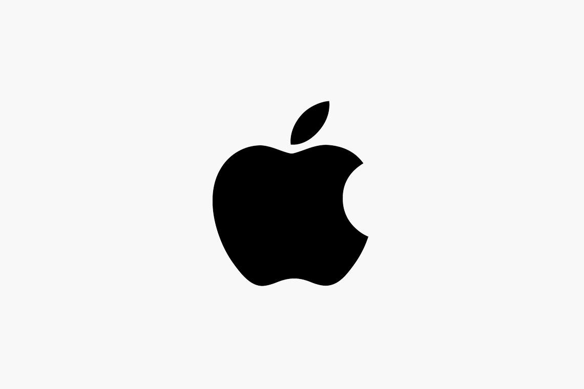 Monochrome Apple logo