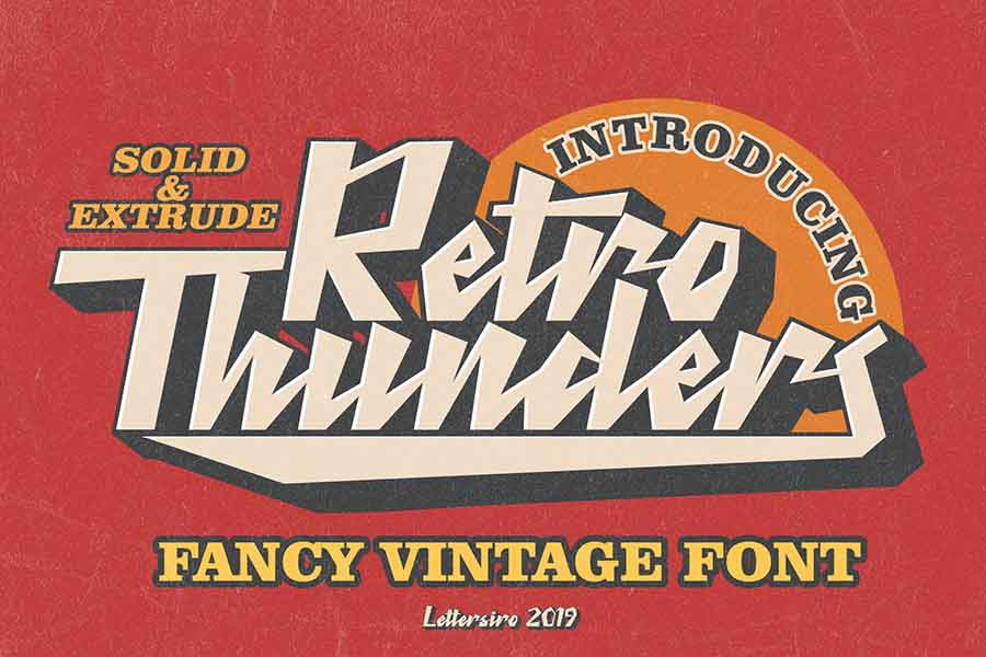 Retro Thunders — Retro Font