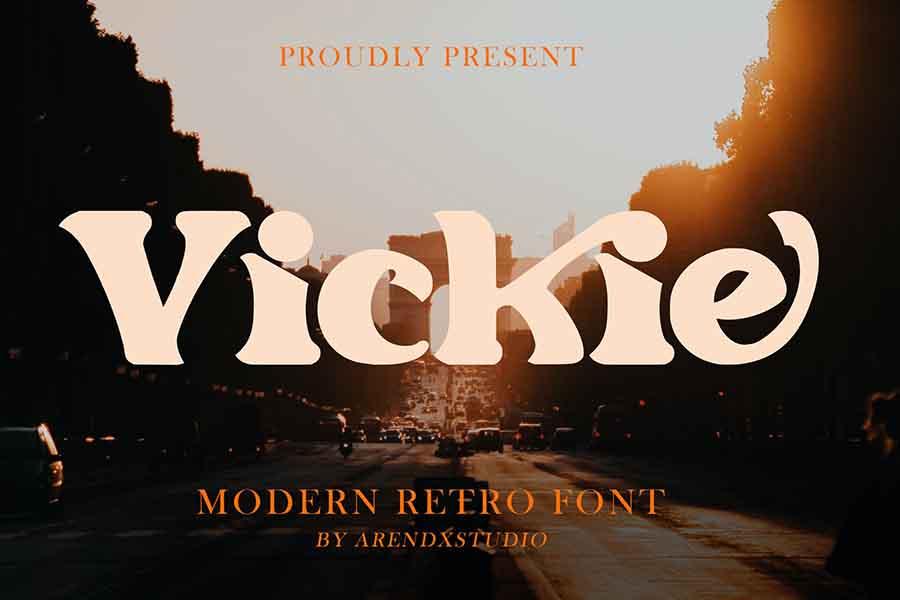 Vickie — Modern Retro Font