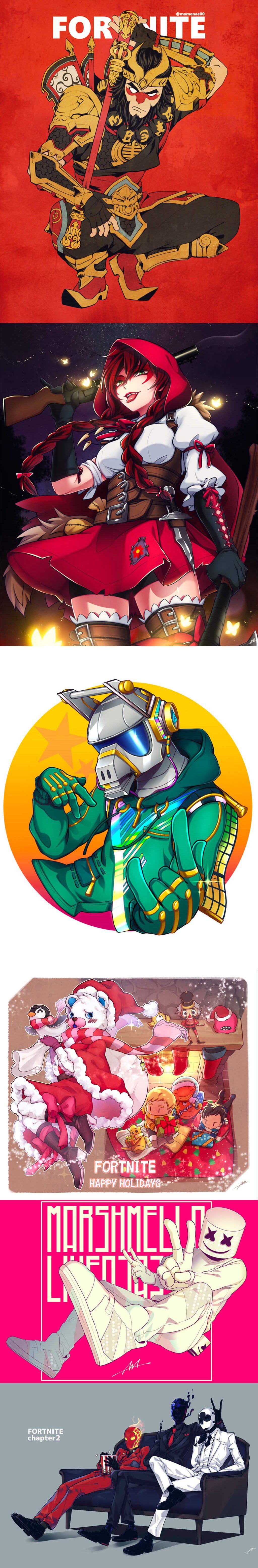 Fortnite Fan Art by 豆苗