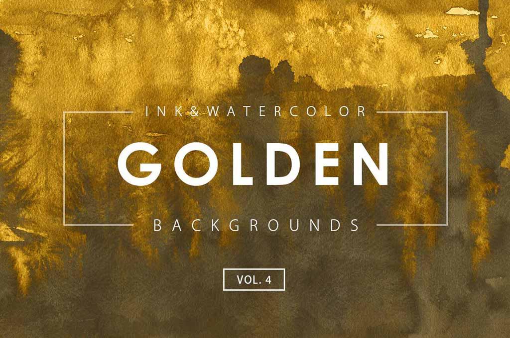 Golden Ink Backgrounds