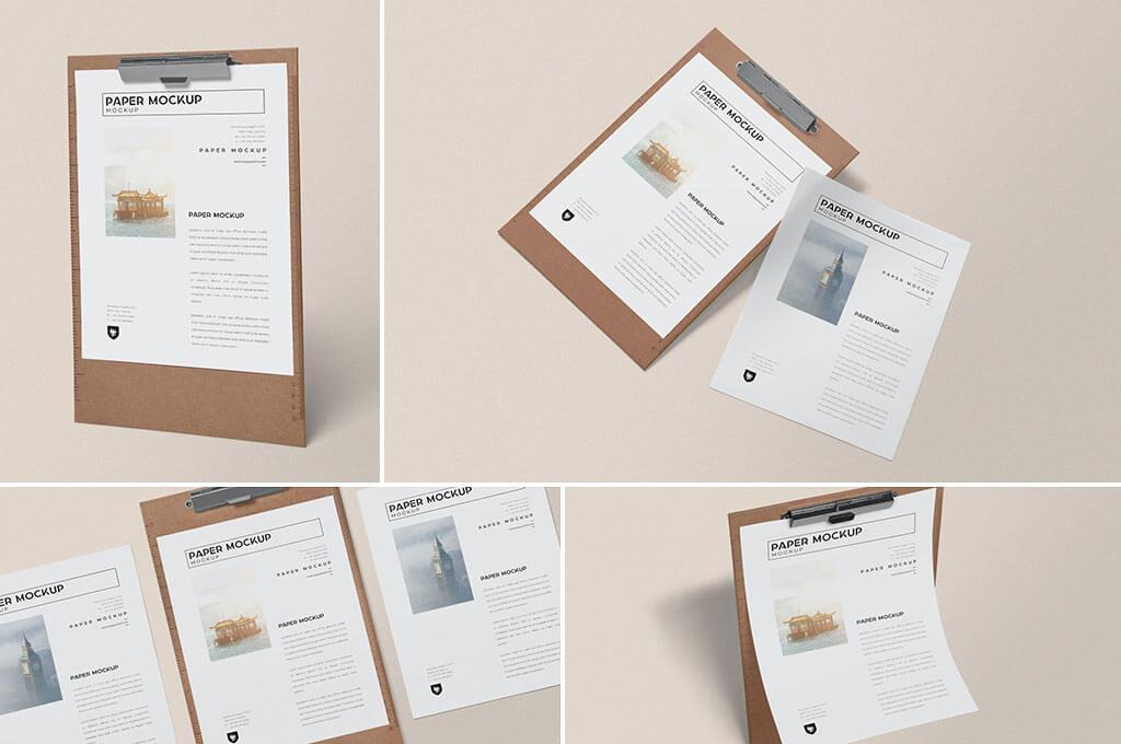 Realistic Paper Mockups