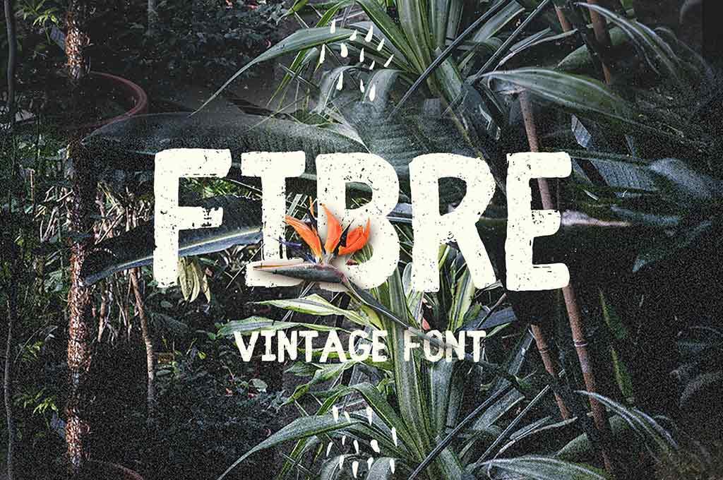 Fibre — Vintage Font