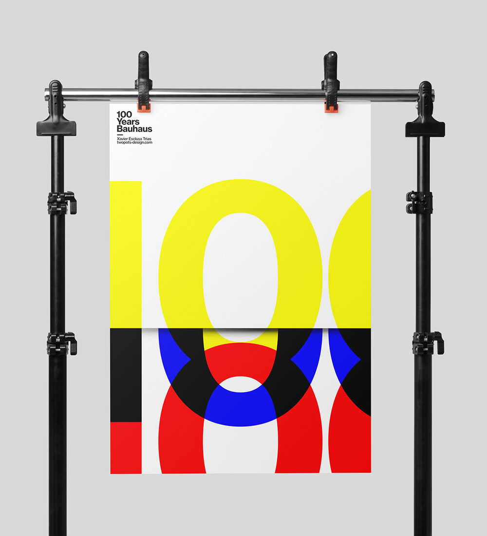 100 Years Bauhaus Poster by Xavier Esclusa Trias