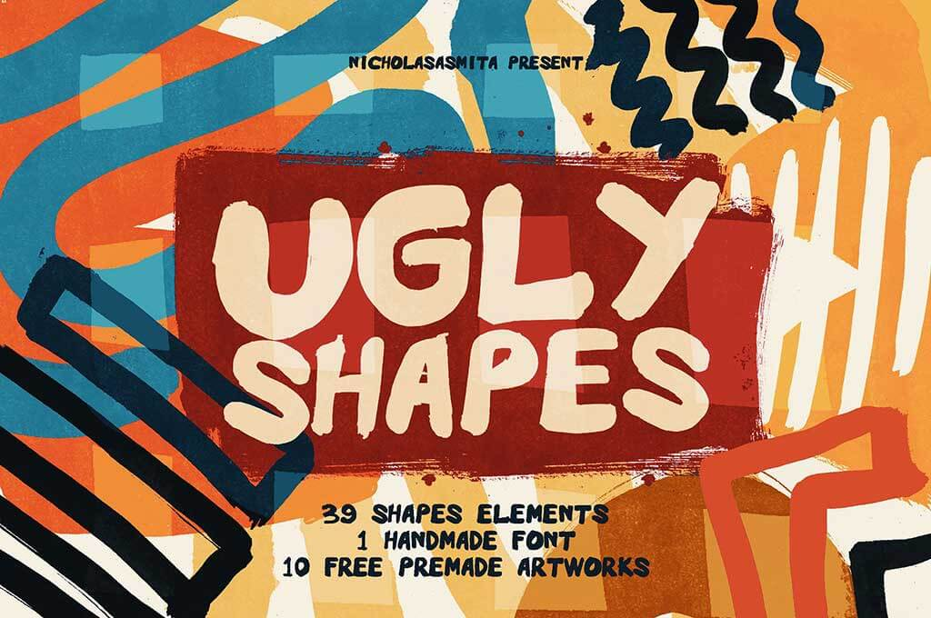 Ugly Shapes: Abstract Art Set