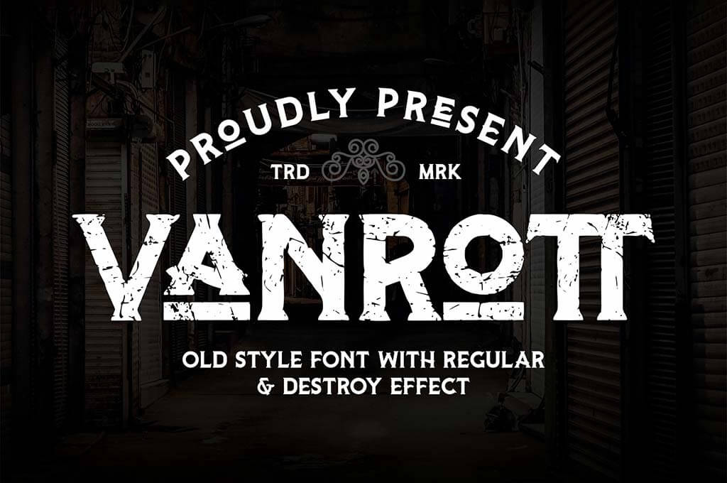 Vanrott — Old Style Font