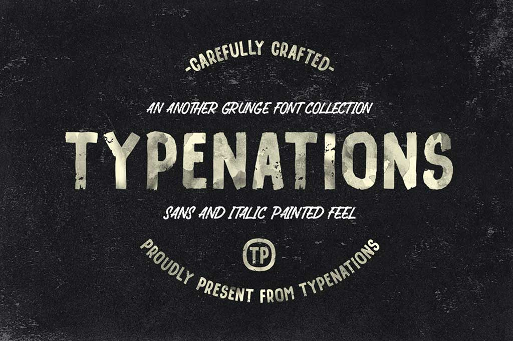 Type Nation Duo Grunge & Painted