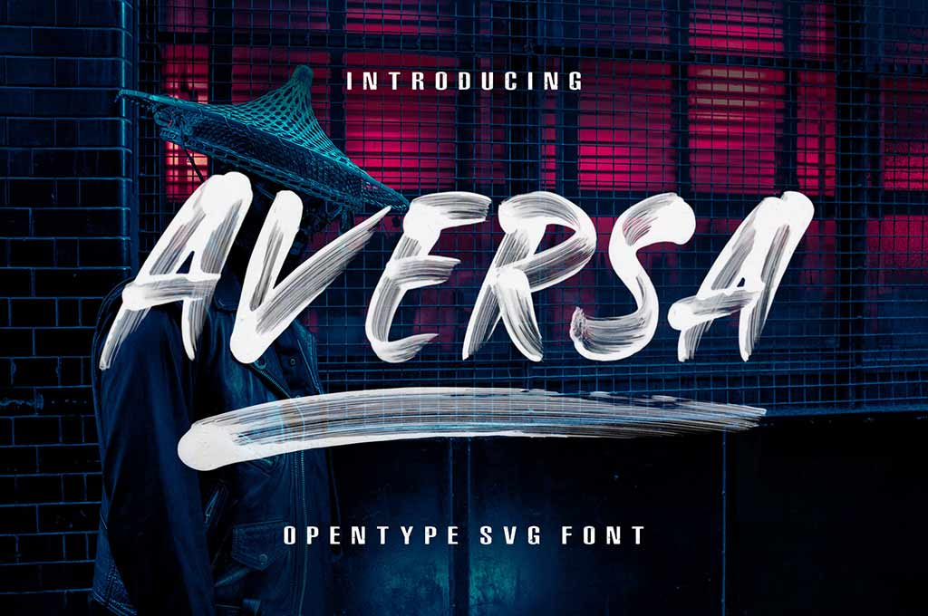 Aversa Brush Font
