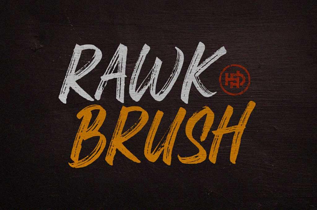 Rawk Brush Font