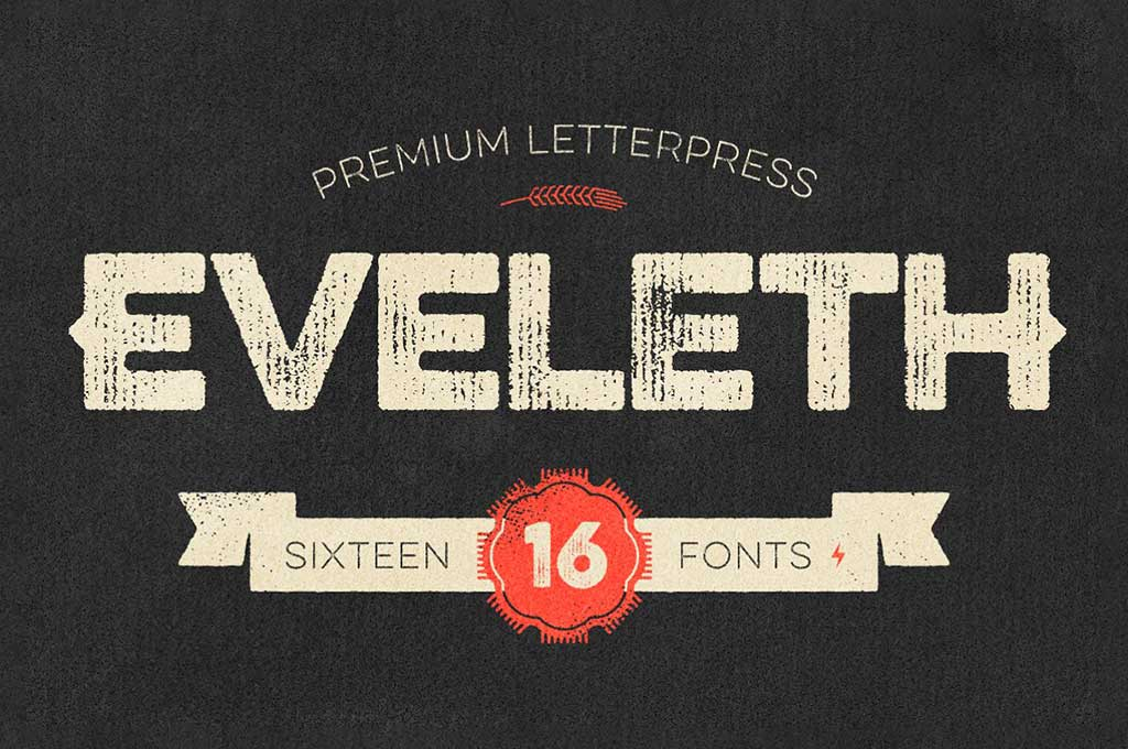 Eveleth — Premium Letterpress Fonts