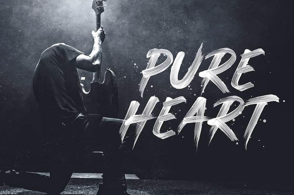 Pure Heart — OpenType SVG Brush Font