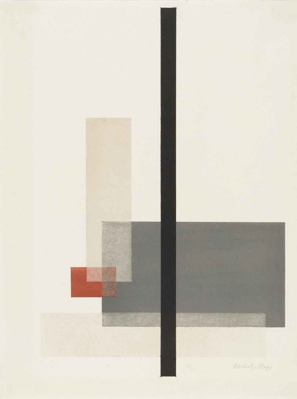 Composition from Masters' Portfolio of the Staatliches Bauhaus by László Moholy-Nagy (1923)