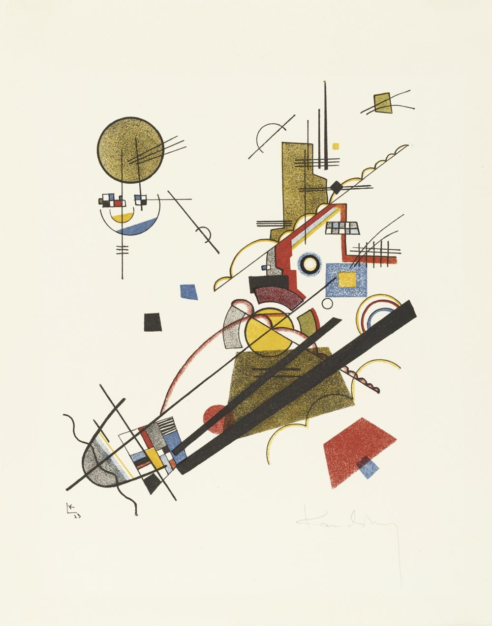 Joyous Ascent by Vasily Kandinsky (1923) from Masters' Portfolio of the Staatliches Bauhaus