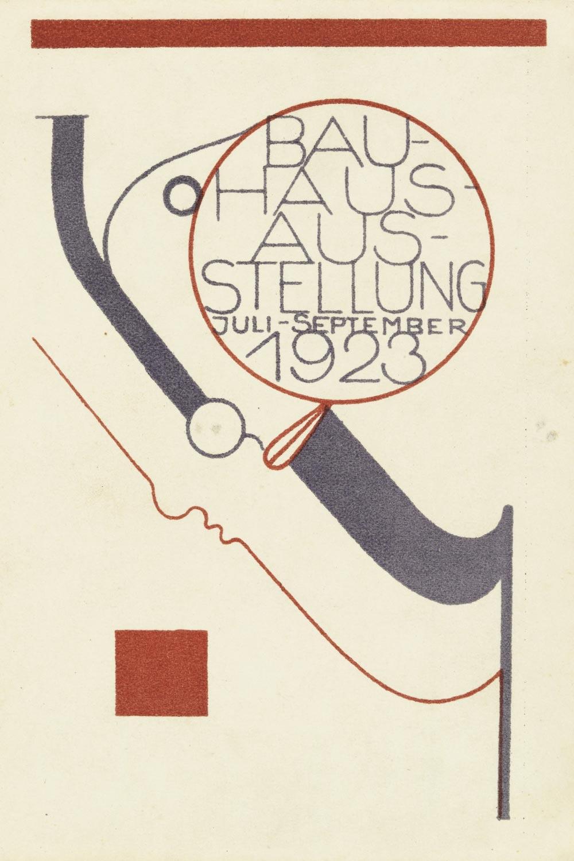 Postcard for the Bauhaus Exhibition by Oskar Schlemmer (1923)