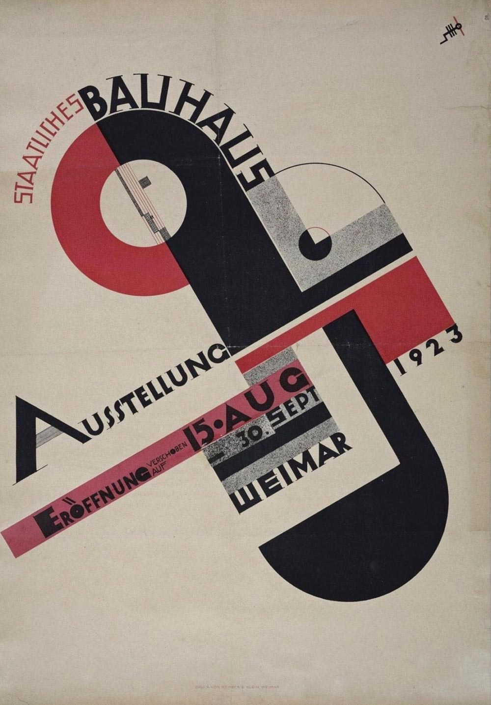 Poster for the Bauhausaustellung by Joost Schmidt (1923)