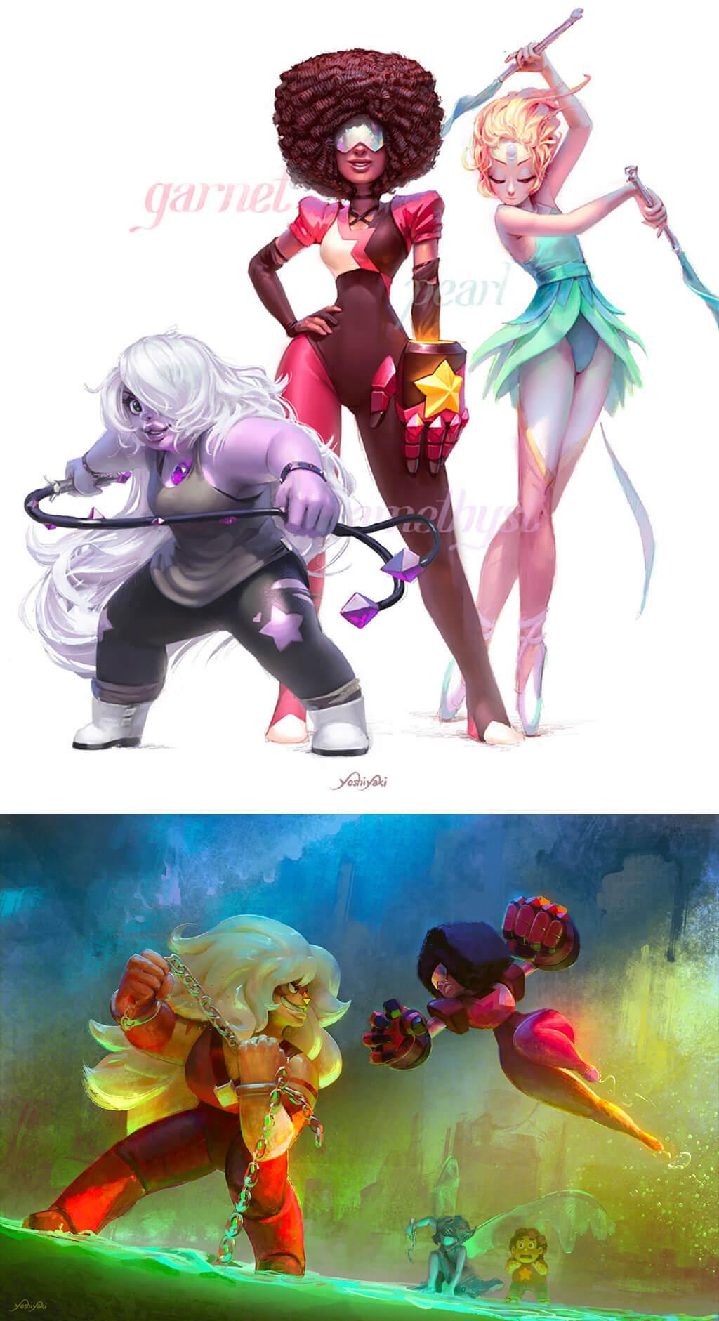 Steven Universe Fan Art by Cassio Yoshiyaki