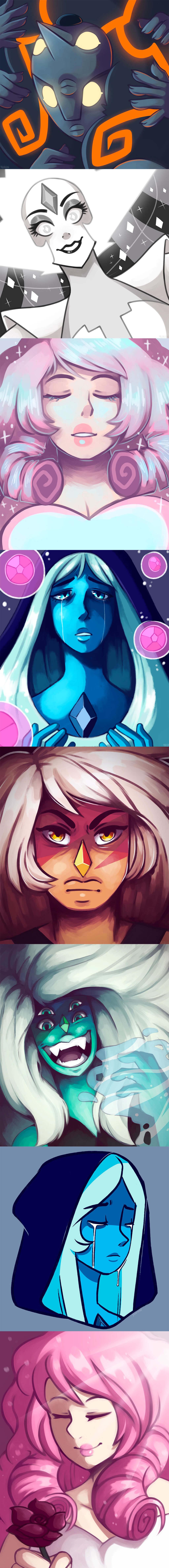 Steven Universe Fan Art by Chantelle Carney