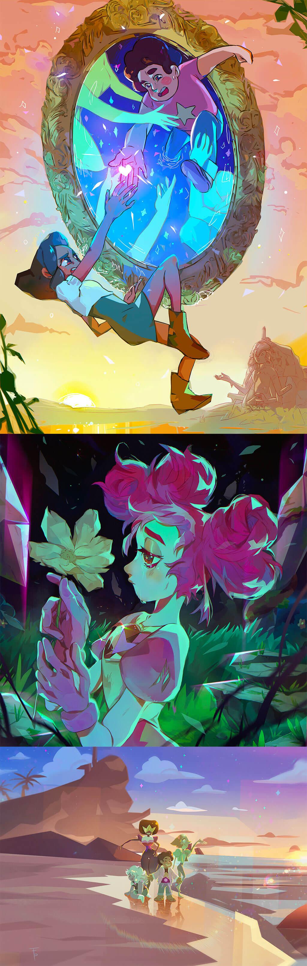 Steven Universe Fan Art by Francesca Pagano