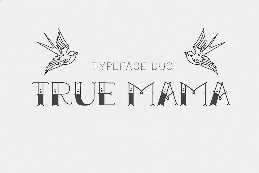 True Mama Cyrillic Typeface Greek