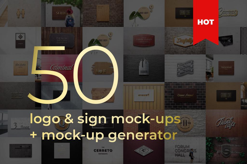 3D Sign Logo Mockup Generator