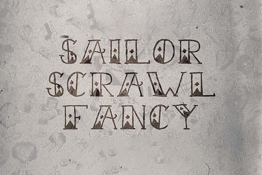 Sailor Scrawl Fancy Font